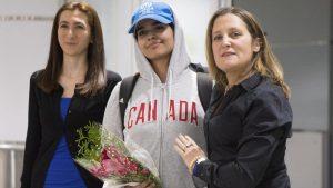 canada welcomes rahaf al qunun