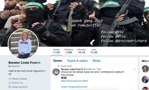 Senator Linda Frum twitter account hacked
