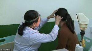 woman unable to hear men voice